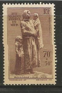 FRANCE  B93  MINT HINGED, STATUE OF WIDOW AND CHILDREN