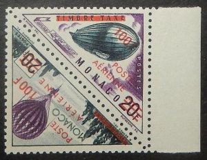 Monaco C49-50. 1956 100Fr on 20Fr Surcharges, se-tenant pair, NH