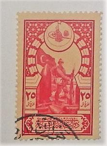 Turkey 434. 1916-18 25pi Carmine on straw, used