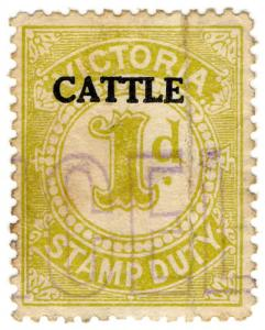 (I.B) Australia - Victoria Revenue : Cattle Duty 1d