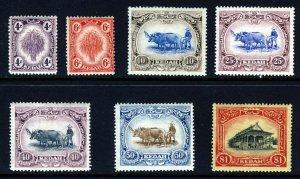 KEDAH MALAYSIA 1921-32 Wmk Mult Script CA Part Set + Varieties SG 30c - 37w MINT