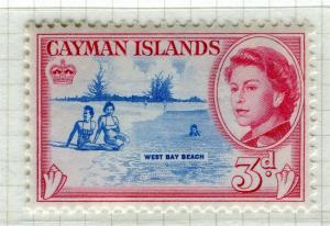CAYMAN ISLANDS; 1962 early QEII pictorial issue fine Mint hinged 3d. value