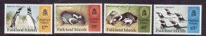 Falkland Islands-Sc#667-70-unused NH set-Marine Life-Penguins-id1-1997-