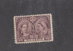 CANADA (KSG235) # 57  VF-MLH 10cts QV DIAMOND JUBILEE/ BROWN VIOLET CAT VAL $225
