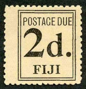 Fiji SGD3 1917 2d Black Post Due Mint (no gum as issued)