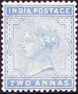 INDIA 1883 QV 1 Anna Pale Blue SG91 MH