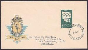AUSTRALIA 1955 Olympic Games Generic FDC....................................6986