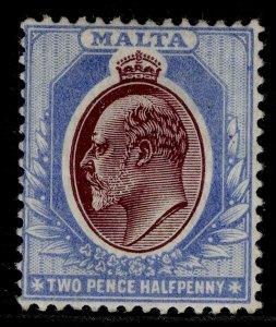 MALTA EDVII SG41, 2½d maroon & blue, M MINT. Cat £32.