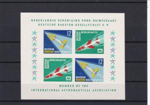 Netherlands Mint Never Hinged Rocket Post Cinderella Stamps Sheet Ref 27578