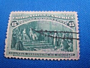U.S. SCOTT #238  -  Used