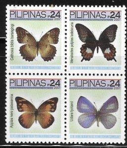 Philippines 2007 Butterflies Sc 3039 MNH A2044