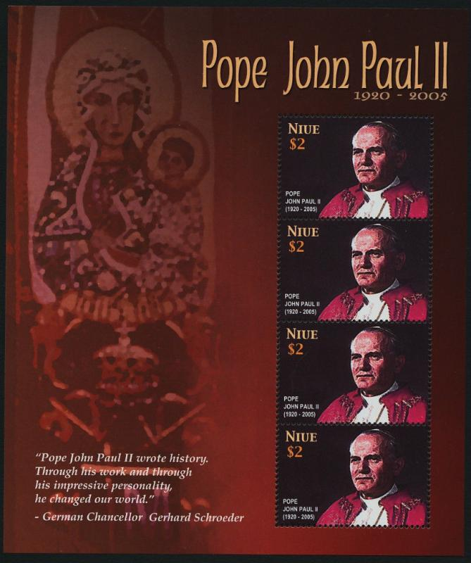 Niue 794 Sheet MNH Pope John Paul II