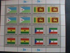 UNITED NATION-1981 SC#350-353  U. N. FLAGS SERIES MNH FULL SHEET- VERY FINE
