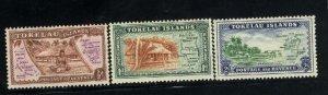 Tokelau #1-3   Mint  NH VF 1948 PD