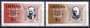 Lithuania. 1994. 548-49. presidents. MNH.
