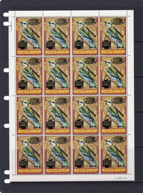 Timor (Occussi-Ambeno) 1991 Halley's Comet/Concorde/Birds  Shlt (16) MNH