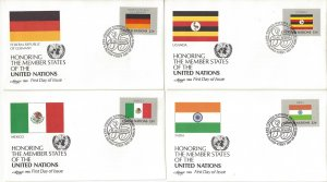 United Nations New York 450-65 FDC 1985 Flag Series Artmaster Cachet