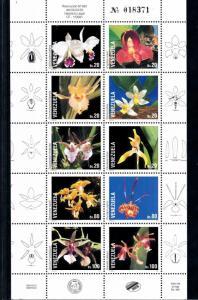 [62746] Venezuela 1993 Flora Flowers Blumen - Orchids  MNH