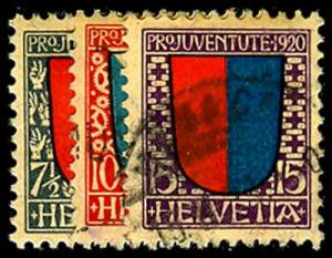 SWITZERLAND B15-17  Used (ID # 46293)