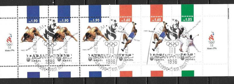 Israel 1279a Olympic Games 1996 Booklet CTO