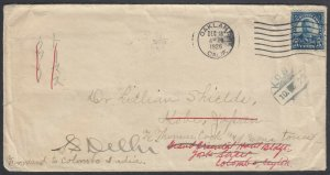 US 1926 5c Roosevelt from California to Thomas Cook in JAPAN, INDIA and CEYLON