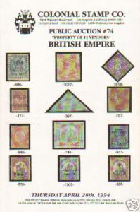 British Empire, Rare & Choice, Colonial Stamp Company Auction Catalog