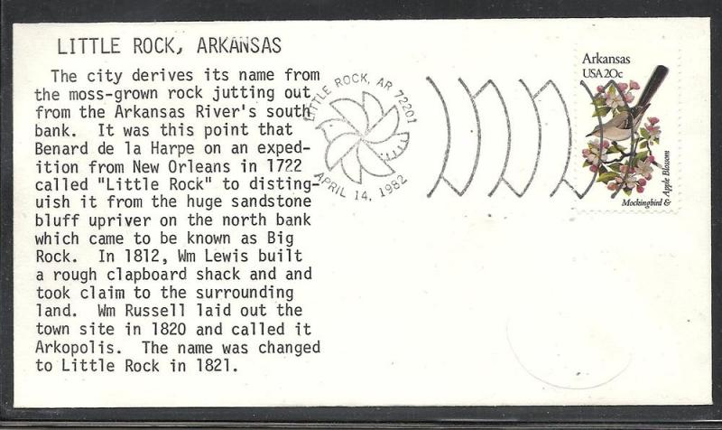 US #1956 Arkansas unknown typed cachet unaddressed