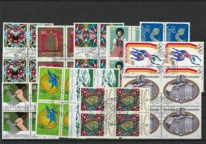 Liechtenstein Used Blocks of Four Stamps Ref 27286