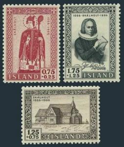 Iceland B14-B16,lightly hinged. Bishopric of Skalholt-900,1956.Cathedral.