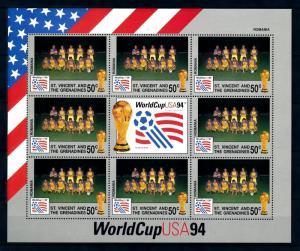 [94425] St. Vincent & Gren 1994 World Cup Football Soccer USA Romania Sheet MNH