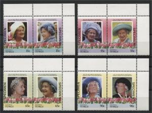 TUVALU, NANUMAGA, QUEEN MOTHER SPECIAL OVERPRINTS