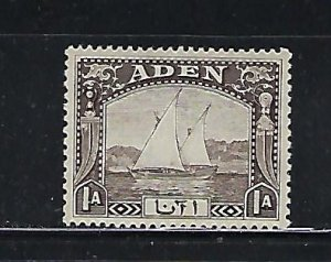 ADEN SCOTT #3 1937 DHOWS 1A  (BLACK BROWN) MINT LIGHT HINGED