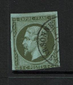 France # 12, Used, Close Bottom Margin - Lot 073017