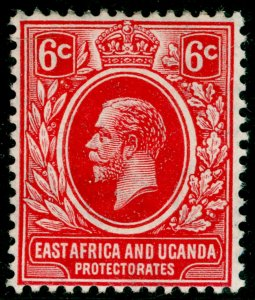 EAST AFRICA and UGANDA SG46, 6c red, NH MINT. WMK MULT CA