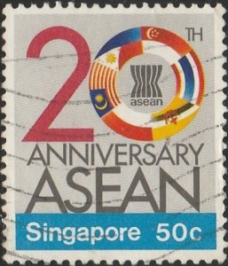 Singapore,  #504 Used  From 1987