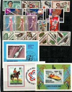 Central Africa - small collection of Mint NH sets and S/S (CV $65.00)  [TC578]
