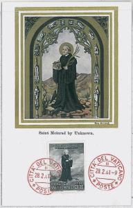 37249  MAXIMUM CARD - VATICANO : Art RELIGION - Saint Meinrad - 1961
