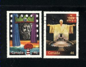 Canada #1827c,d   -1  used VF 2000 PD