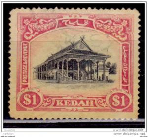 Malaya Kedah, 1921-36, Council Chamber, Scott# 42, fine used