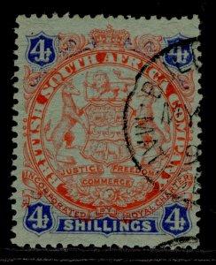 RHODESIA QV SG37, 4s orange-red & blue/green, FINE USED.