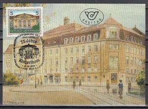 Austria, Scott cat. 1442. Vienna Concert Hall, Maximum Card. ^