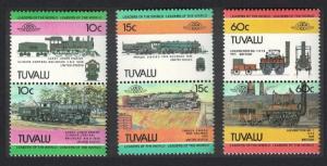 Tuvalu Railway Locomotives 2nd series 6v 1984 MNH SG#253=266