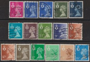 [SOLD] z3871) Great Britain - Regionals. 1971/93. Used. Small Collection of N. I