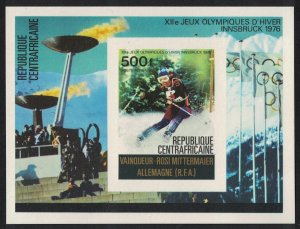 Central African Rep. Medal Winners Winter Olympic Games Innsbruck MS De-Luxe