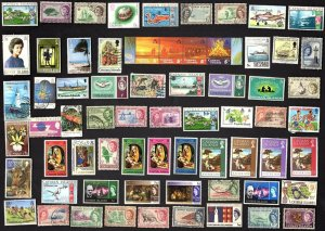 74 All Different   CAYMAN ISLANDS STAMPS
