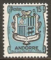 1961 Andorra-French Scott 145 Coat of Arms MNH