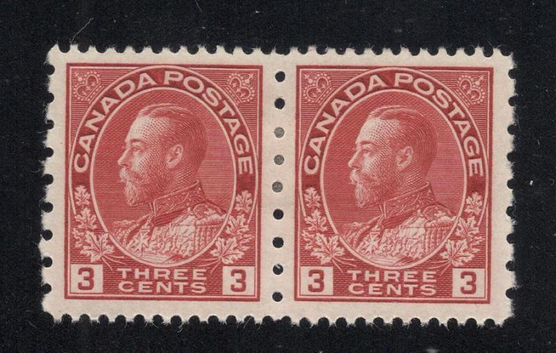 #184 Carmine - 3 Cents - Pair - Unused - O.G.