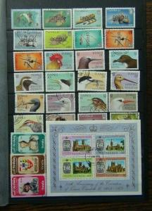 Tuvalu Range of Commemorative issues 1989 Birds Officials Prince William Used