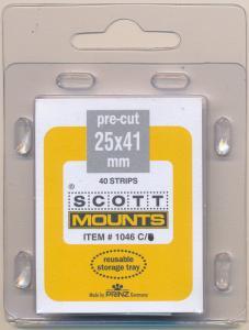 Prinz Scott Stamp Mounts Size 25/41 mm CLEAR (Pack of 40) (25x41  25mm) PRECUT