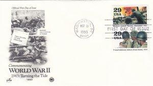 1993, Turning the Tide-WW2-1943, Art Craft/PCS, FDC (E11257)